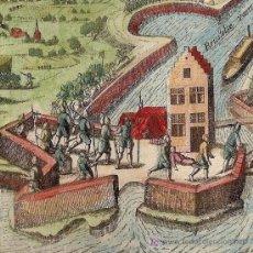 Arte: GRABADO DE TROPAS CERCA DE MALINAS (BÉLGICA) DE BAUDARTIUS, 1616. Lote 12553885