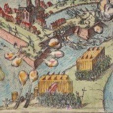 Arte: GRABADO DE LA BATALLA DE BOMMENEE DE BAUDARTIUS, 1616. Lote 12557206