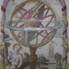 Arte: GRABADO ESFERA ARMILAR DE SALMON, 1756. Lote 18562502