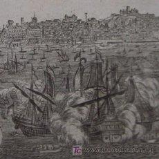"""Arte: GRABADO """"VISTA DE LISBOA"""" DE MALLET, 1719. Lote 18568792"""