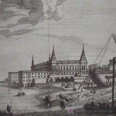Arte: GRABADO DEL PALACIO REAL DE LISBOA (PORTUGAL), DE COLMENAR, 1715. Lote 18568958