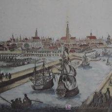 Arte: GRABADO VISTA DE MIDDELBURG (HOLANDA) DE ALBRIZZI, 1740. Lote 18569194