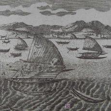 """Arte: GRABADO """"BARCOS DE AMÉRICA"""" DE MALLET, 1719. Lote 18569292"""