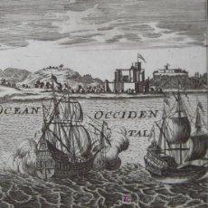 """Arte: GRABADO """"CASTILLO DE LA MINE"""" DE MALLET, 1685. Lote 18569415"""