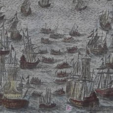 """Arte: GRABADO """"GRAN BANCO DE PECES"""" DE MALLET, 1719. Lote 18569450"""