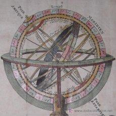 """Arte: GRABADO """"ESFERA ARMILAR"""" DE CHATELAIN, 1729. Lote 18569868"""