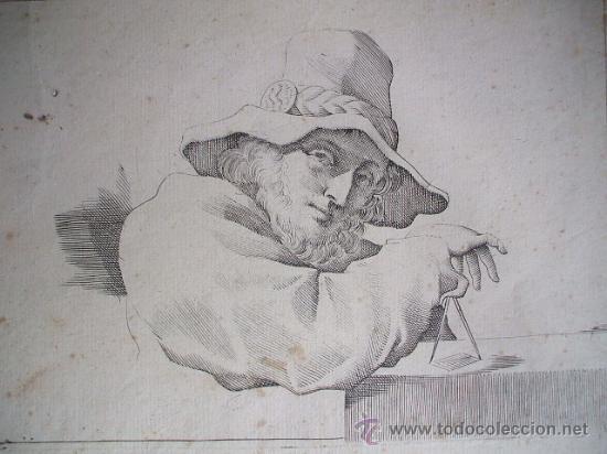 GRABADO FINALES DE SIGLO XVIII - GUERCINO (Arte - Grabados - Antiguos hasta el siglo XVIII)
