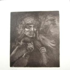 Arte: ERNST FUCHS - VOGELFRESSER - AGUAFUERTE. FIRMADO. Lote 26386785