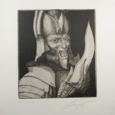 Arte: ERNST FUCHS - MARS - AGUAFUERTE. FIRMADO. Lote 26386781