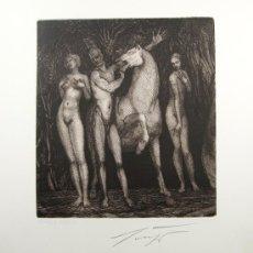 Arte: ERNST FUCHS - ESCENA MITOLOGICA- AGUAFUERTE. FIRMADO. Lote 26386790