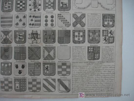 Arte: CARTA HERÁLDICA DE LOS REYES DE ESPAÑA Y ARMAS DE LA MAYOR PARTE DE LOS GRANDES DEL REINO. - Foto 4 - 19037177