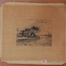 Arte: AGUAFUERTE ORIGINAL GRABADO FIRMADO Y FECHADO EN 1922 POR JENSEN .... Lote 19433343