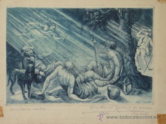 ANTIGUO GRABADO DE ENCARNACION RUBIO (Arte - Grabados - Modernos siglo XIX)