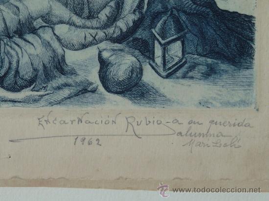 Arte: Antiguo grabado de ENCARNACION RUBIO - Foto 2 - 24098143
