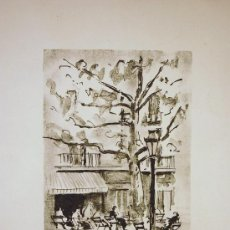 Arte: BARCELONA. AGUAFUERTE ORIGINAL DE SIMÓ BUSSOM. 1991. Lote 20000702