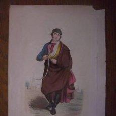 Arte: RARO GRABADO ILUMINADO 1848 CORREGIDOR ESPAÑOL. Lote 27291702
