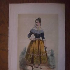 Arte: RARO GRABADO 1848, SEÑORITA DE PALMA. Lote 31312491