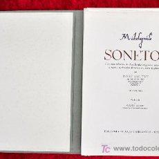 Arte: SONETOS DE MICHELAGNIOLO. LIBRO DE BIBLIÓFILO NUMERADO.CON 12 GRABADOS ORIGINALES DE MARC DAUTRY. Lote 25197121