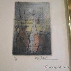 Arte: PEQUEÑO GRABADO FIRMADO PALIER - PRUEBA DE AUTOR. Lote 27219202