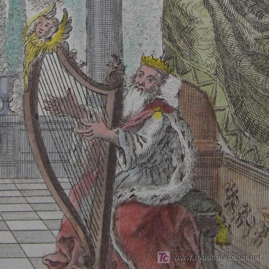 El Rey David Tocando El Arpa 1680 Kaufen Alte Druckgrafiken Bis