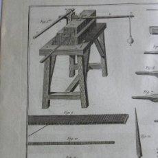 Arte: GRABADO CON HUELLA DE PLANCHA DE HERRAMIENTAS Y MAQUINARIA ANTIGUA S M. S,XVIII (BENARD DIREXIT). Lote 26965296