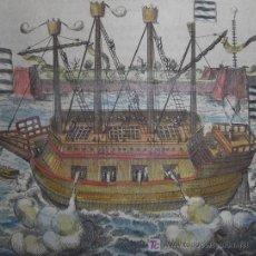 Arte: GALERA DE GUERRA POR BAUDARTIUS, 1616. Lote 20940315