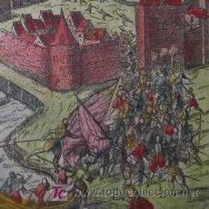 Arte: SOLDADOS ENTRANDO EN LA CIUDAD DE GEERTRUIDENBERG (HOLANDA) POR BAUDARTIUS, 1616. Lote 20940452