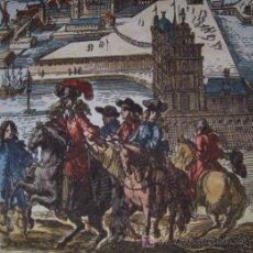 Arte: VISTA DE COPENHAGUE (DINAMARCA) DE MALLET, 1719. Lote 20940826