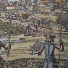 Arte: ESCENA DE BATALLA DE MALLET, 1696. Lote 21045207
