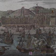 Arte: VISTA DEL MONASTERIO DE BELEM EN LISBOA (PORTUGAL) DE MALLET, 1719. Lote 21115639