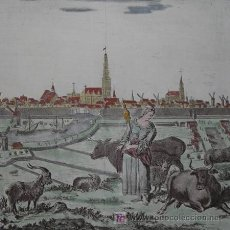 Arte: VISTA DE GRONINGEN (HOLANDA) DE ALBRIZZI, 1740. Lote 21145854