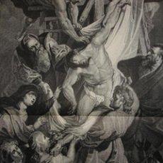 Arte: EL DESCENDIMIENTO DE LA CRUZ,RUBENS. Lote 21428605