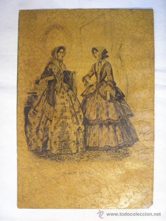 GRABADO DE LES MODES PARISIENNES (Arte - Grabados - Modernos siglo XIX)
