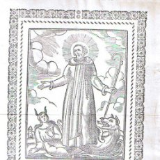 Arte: SANT DANIEL MARTIR (20X14,5) SIGLO XVIII.. Lote 21681303
