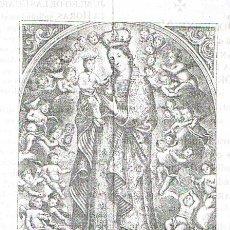 Arte: CONVOCATORIA NOVENA (15X10). IGLESIA PARROQUIAL DE SAN ILDEFONSO. SEVILLA 1934.. Lote 21681387