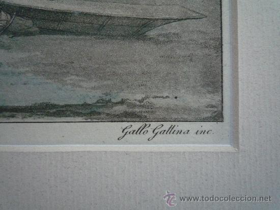 Arte: Precioso y antiguo grabado de gran calidad, coloreado a mano, Gallo Gallina, exploradores en el Polo - Foto 3 - 21888092