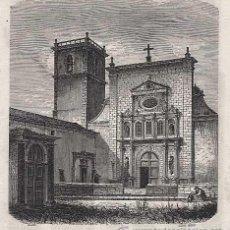 Arte: GRABADO: PORTUGAL, EGREJA SANTA CRUZ DE VIANNA DO CASTELLO. VIANA DO CASTELO SIGLO XIX. Lote 21887432