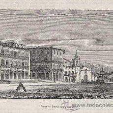 Arte: GRABADO: PORTUGAL, GUIMARAES. PRAÇA DO TOURAL. SIGLO XIX. Lote 21887487