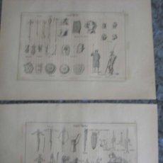 Arte: LOTE 4 GRABADO MILITARES EDAD MEDIA .. FIRMA LIT DE J. DONON. Lote 22266914