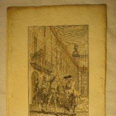 Arte: GRABADO EN COLOR DE 1762. Lote 26400529
