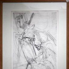 Arte: PUNTA-SECA S.W. HAYTER. E 4/5 FIRMADO Y ENMARCADO. STANLEY WILLIAM HAYTER . SURREALISTA. Lote 26430621