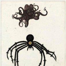 Arte: KIKI SMITH (1954) GRABADO AGUATINTA COLOREADA A MANO PAPEL DE PERGAMINO FIRMADO NUMERADO ENMARCADO. Lote 27341350