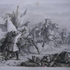 Arte: GRABADO BATALLA DE VILLAVICIOSA ( GUADALAJARA ), FELIPE V Y LA GUERRA DE SUCESIÓN. Lote 23856487