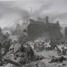 Arte: GRABADO DE LA BATALLA DE LLEIDA, CATALUÑA 1707, FELIPE V Y LA GUERRA DE SUCESIÓN. Lote 23856537