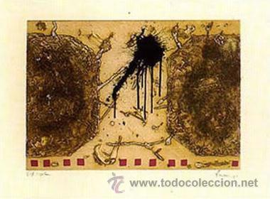 DANIEL ARGIMÓN / TRAPEZIS AGUAFUERTE ORIGINAL FIRMADO FECHADO 1989 Y NUMERADO A LÁPIZ (73/75) (Arte - Grabados - Contemporáneos siglo XX)