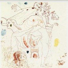 Arte: JORGE CASTILLO / PAYASO EN AMBIENTE FESTIVO GRABADO FIRMADO NUMERADO A LÁPIZ (65 /100) PAPEL ARCHES. Lote 27181229