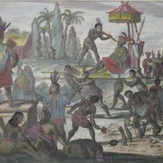 Arte: RITUAL INDÍGENA EN SUDAMERICA DE MONTANUS, 1671. Lote 72082123