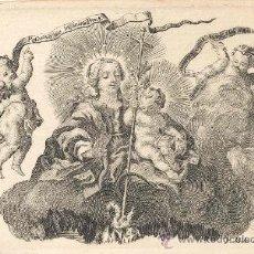 Arte: GRABADO DE LA IMAGEN MADRE CASTÍSIMA, DEL GRABADOR VALENCIANO PASCUAL P. MOLES SIGLO XVIII.. Lote 25269295