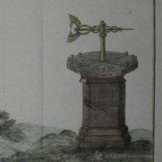 Arte: BRÚJULA Y ROSA DE LOS VIENTOS DE CELLARIUS, 1776. Lote 25635796