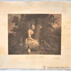 Arte: CLAUDE FRANÇOIS FORTIER (1775-1835) AGUAFUERTE DEL SIGLO XIX (LA CONSTANTE AMILIÉ). Lote 26170606